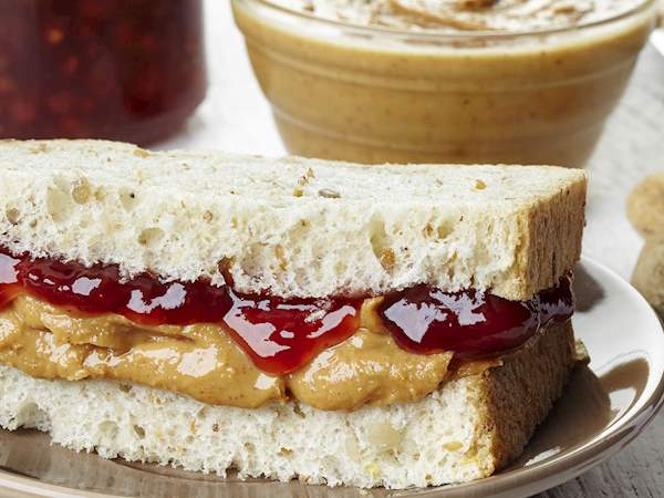 Peanut Butter And Jelly Sandwich Traditional Sandwich From