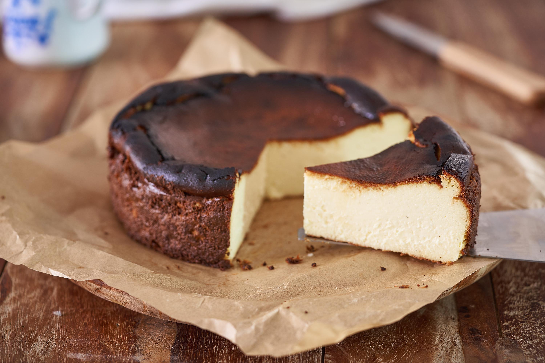 Basque Cheesecake Traditional Cheese Dessert From San Sebastian Spain