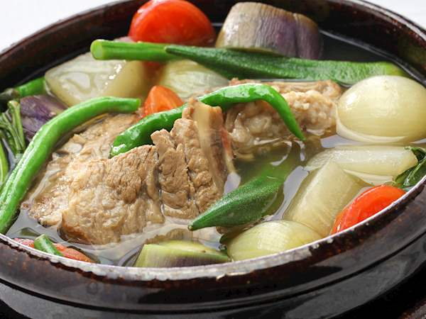 Sinigang Na Baboy Traditional Meat Soup From Philippines Southeast Asia