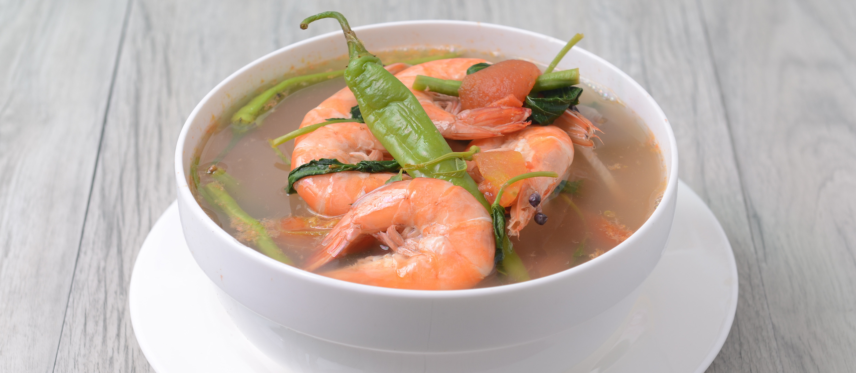 Sinigang Na Hipon Traditional Seafood Soup From Philippines Southeast Asia