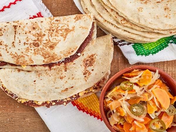 Baleada Traditional Street Food From Honduras